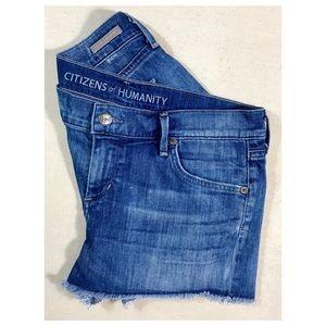 Citizens of Humanity Denim Cut Off Shorts Sz 28
